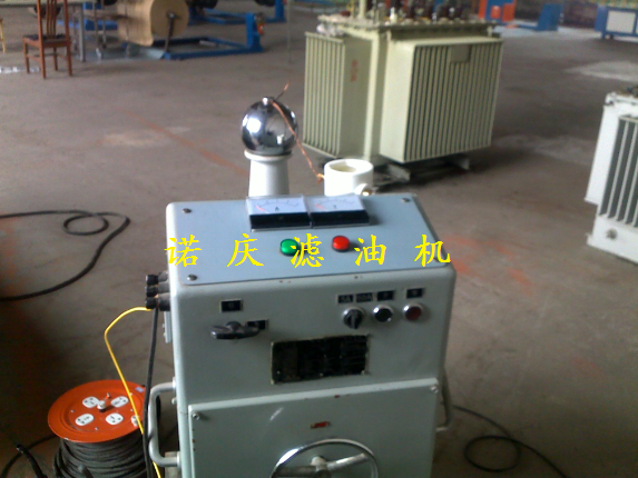Transformer oil purifier-on-site sampling test